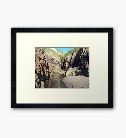 Little sea Framed Print