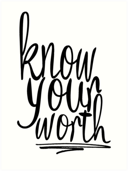 how to know your worth
