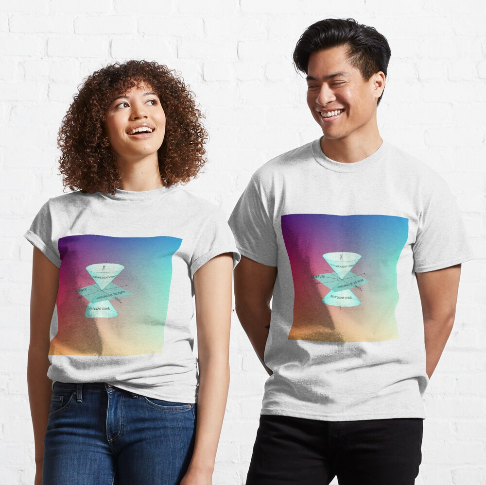 #Physics #Time #Observer #Space futurelightcone pastlightcone hypersurfaceofthepresent future lightcone past light cone hypersurface present Classic T-Shirt