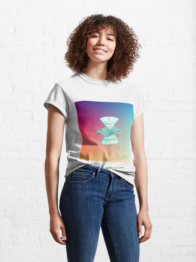 Alternate view of #Physics #Time #Observer #Space futurelightcone pastlightcone hypersurfaceofthepresent future lightcone past light cone hypersurface present Classic T-Shirt