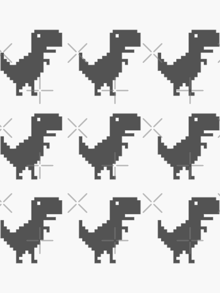 google chrome dino game (9) by cyphyurrr