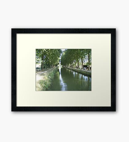 A French canal Framed Print
