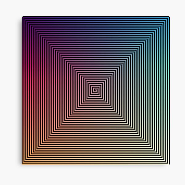 Hypnotic Psychedelic Optical Illusion Canvas Print