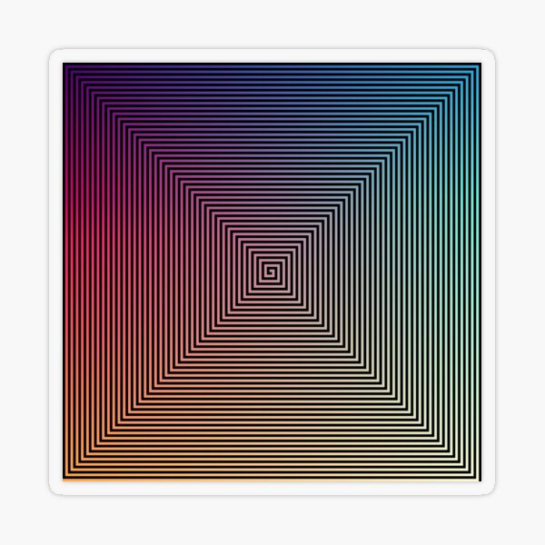 Hypnotic Psychedelic Optical Illusion Transparent Sticker