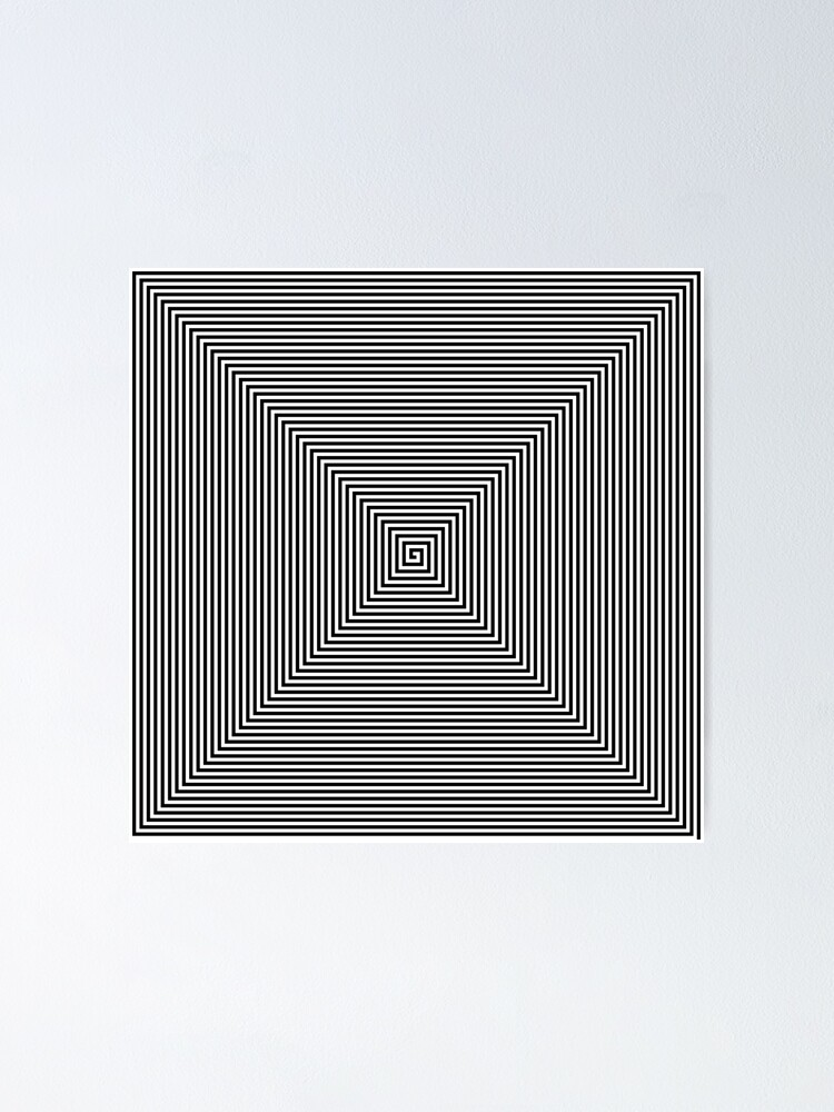 Alternate view of Visual Optical Illusion Poster