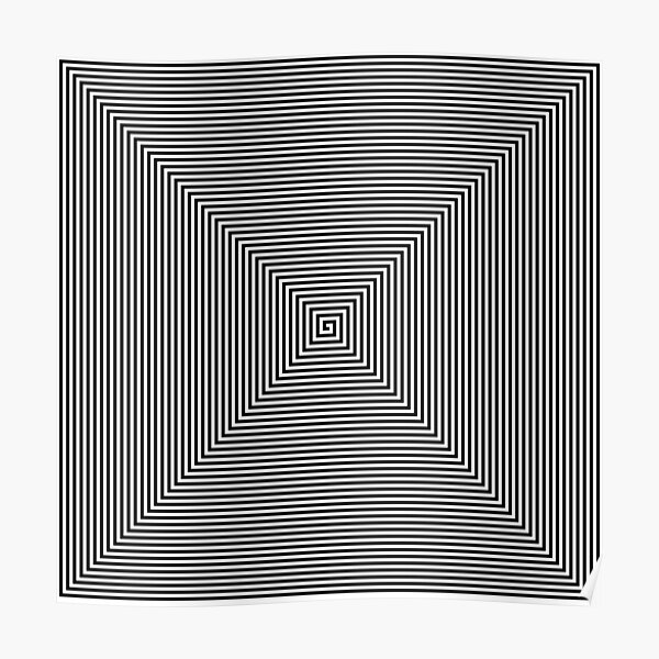 Visual Optical Illusion Poster