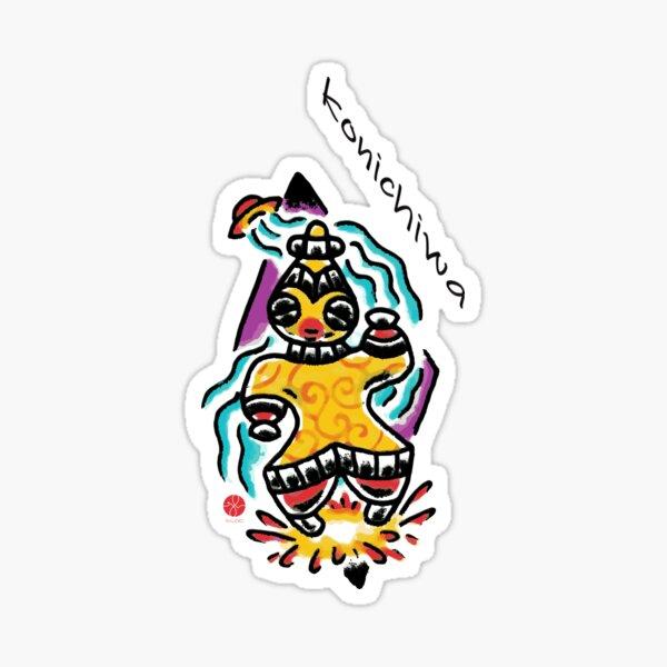 Konichiwa Dogu Sticker