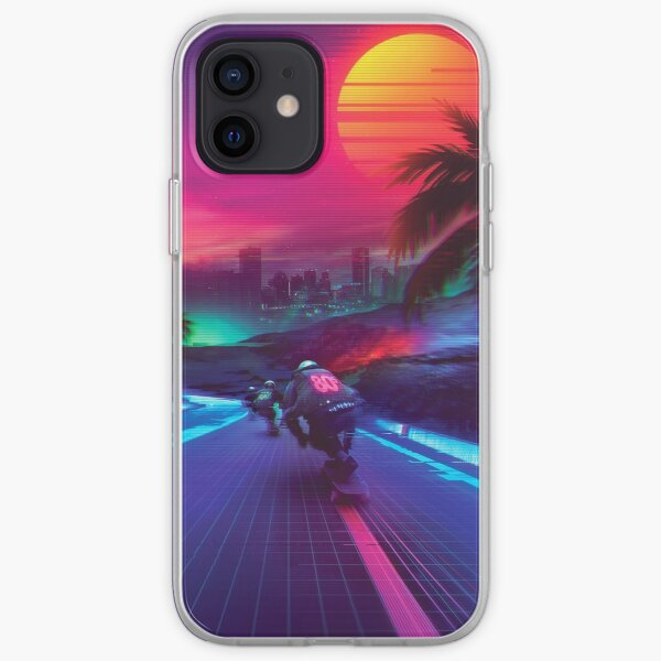 Synthwave Midnight Outrun iPhone Soft Case