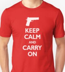 Keep Calm And Carry On - Gun Rights T-Shirt