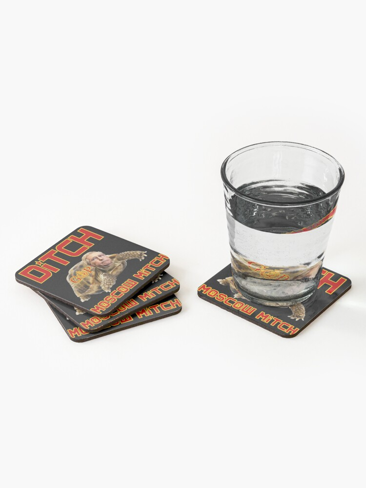 Alternate view of Ditch Moscow Mitch Coasters (Set of 4)