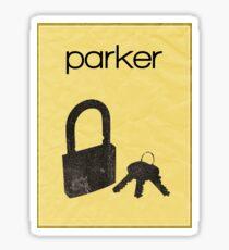 Parker (Leverage) minimalist poster Sticker