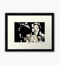 Moment of joy Framed Print