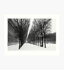 Morning Snowfall - Palais Royal Art Print