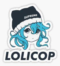 Supreme Lolicop (Aqua / Blue) Glossy Sticker