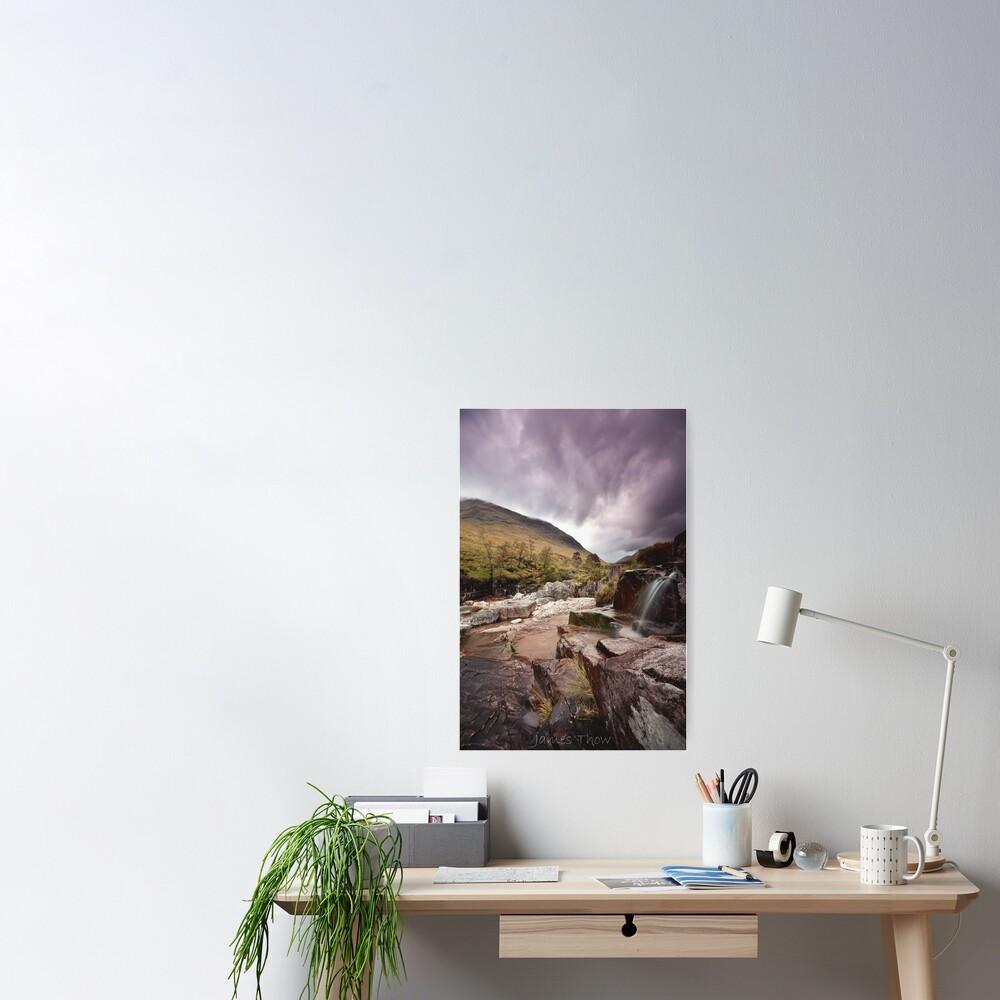 Glen Etive waterfall Poster
