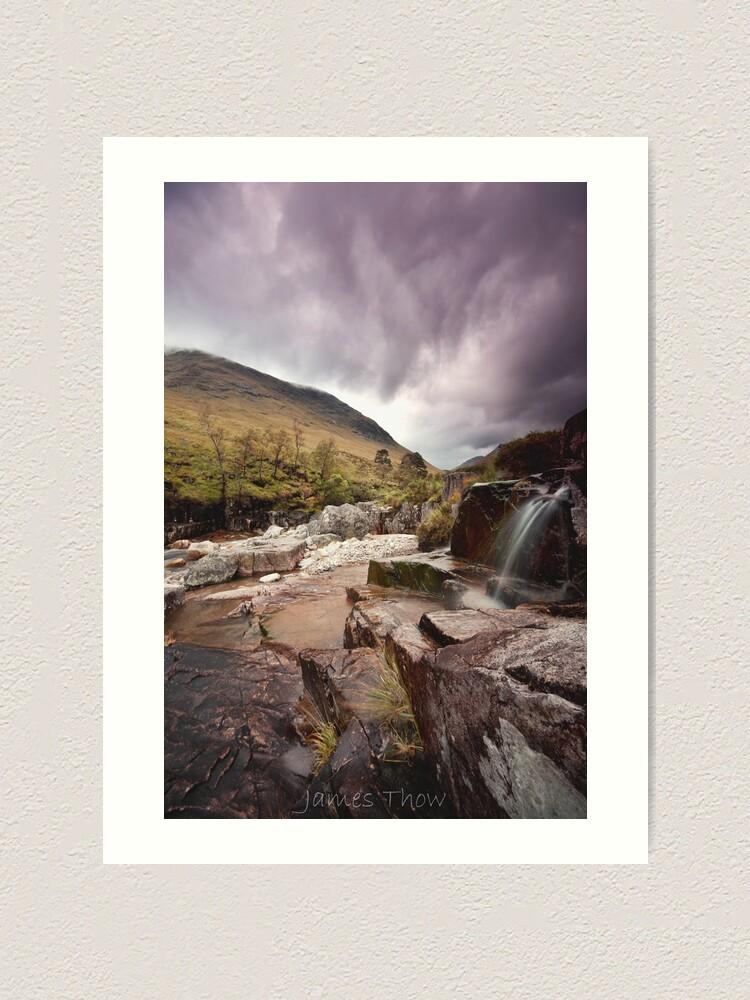 Alternate view of Glen Etive waterfall Art Print