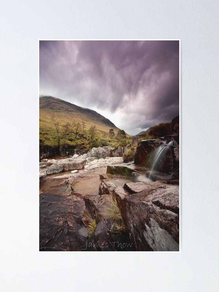 Alternate view of Glen Etive waterfall Poster