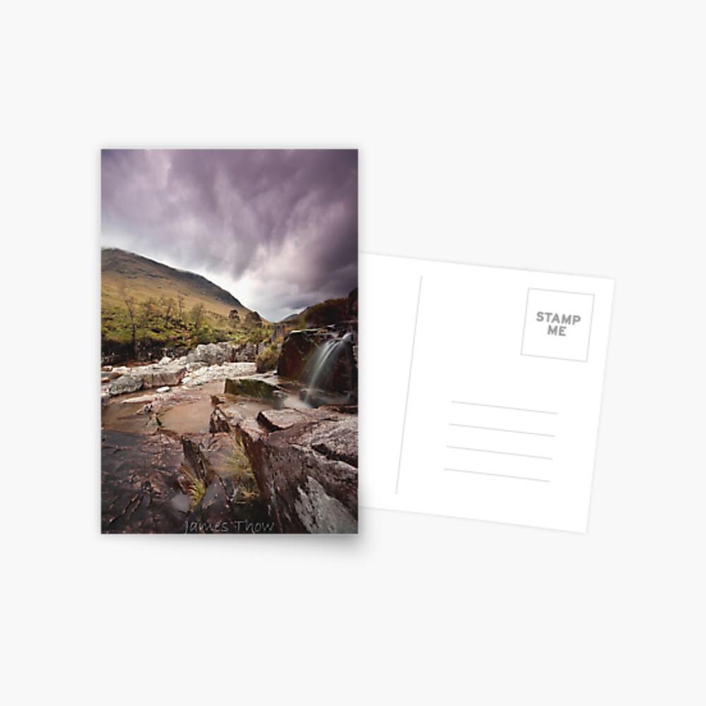 Glen Etive waterfall Postcard