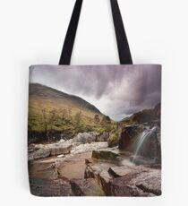 Glen Etive waterfall Tote Bag