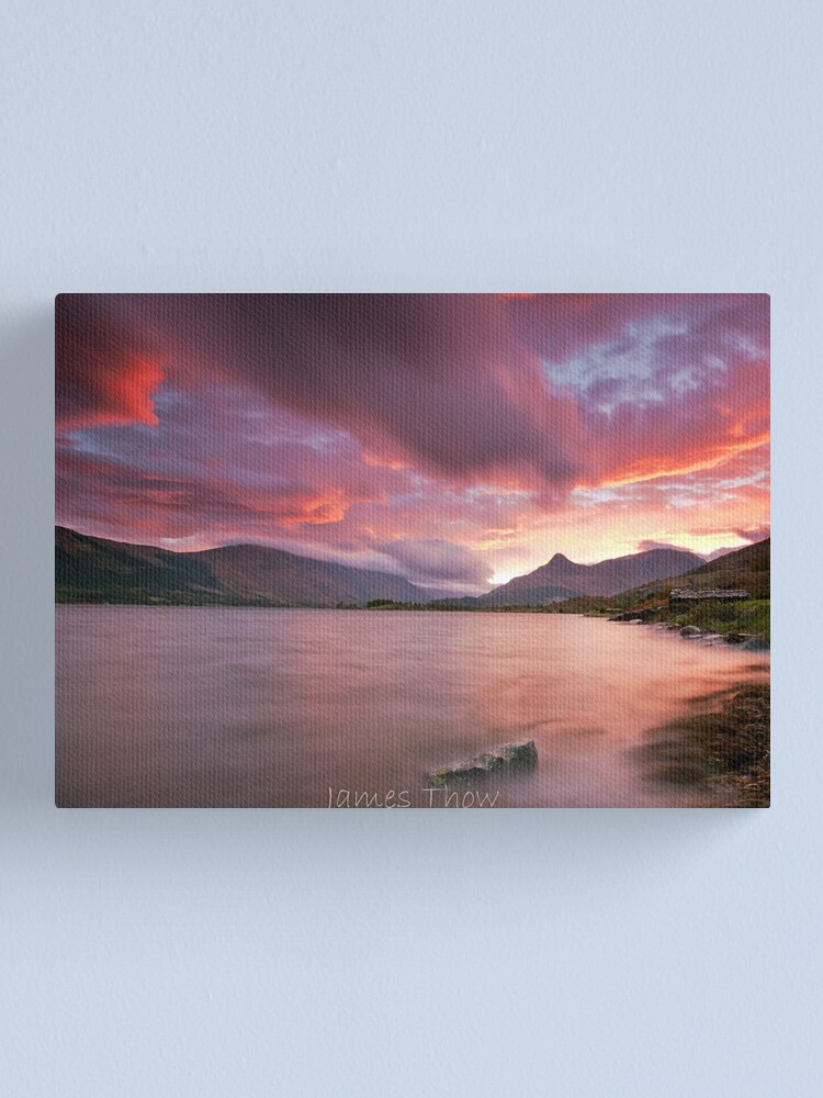 Alternate view of Glencoe sunrise Canvas Print