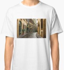 Impressions Of Florence - Walking on the Silver Street in the Rain Classic T-Shirt