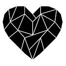 Punk romance black love heart by Jen Fullerton