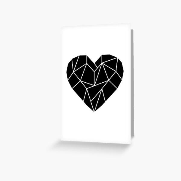 Punk romance black love heart Greeting Card