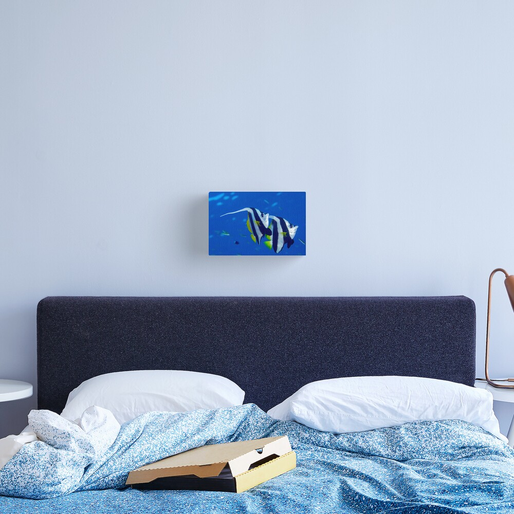 Banners in the blue Canvas Print