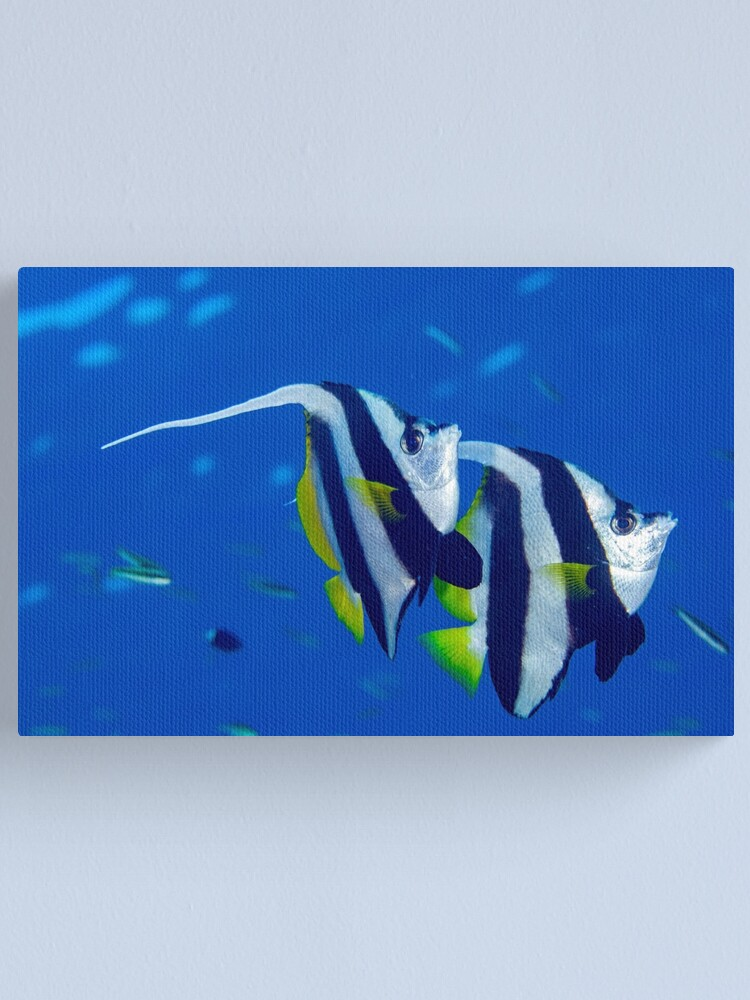 Alternate view of Banners in the blue Canvas Print