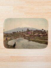Mt. Fuji from Omiya Village 1880s Bath Mat