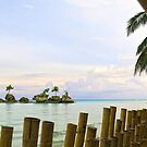 view from Boracay hotel steps by lensbaby