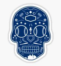Los Angeles Baseball Sugar Skull Sticker