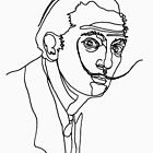 Dalí, one line drawing by mensijazavcevic
