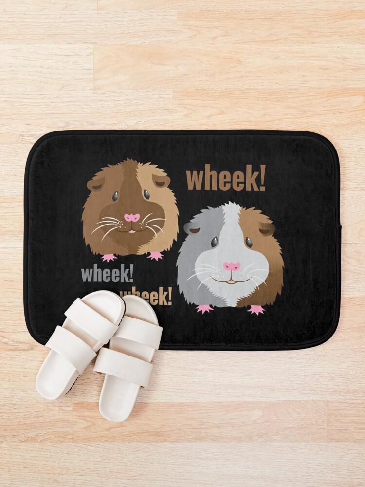 Alternate view of Wheek! Wheek! guinea pigs Bath Mat