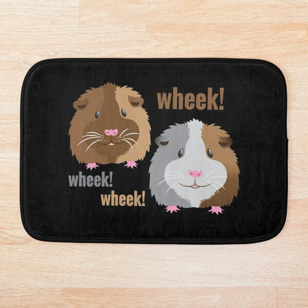 Wheek! Wheek! guinea pigs Bath Mat