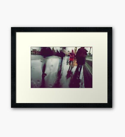 They stepped in a puddle right up to their middles... Framed Print