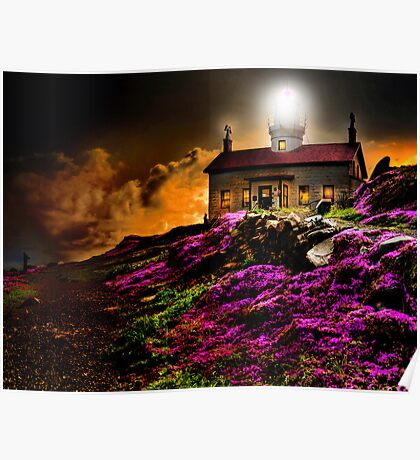 Cresent City Lighthouse Poster