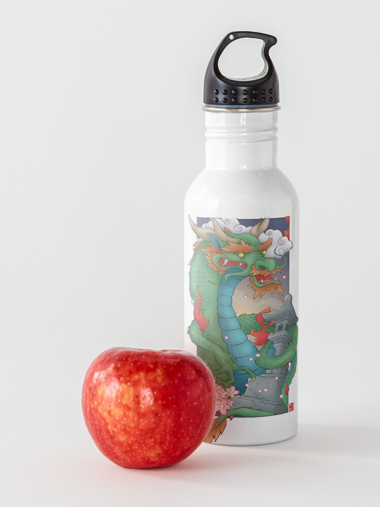 Alternate view of Green Japanese Dragon Water Bottle