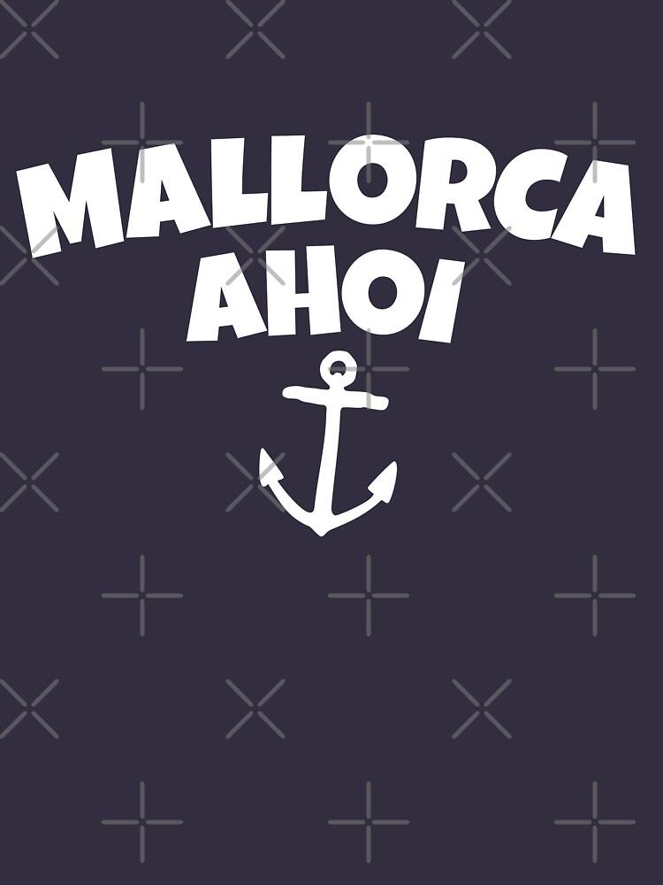 Mallorca Ahoi Anker Segel Design (Weiß) von theshirtshops