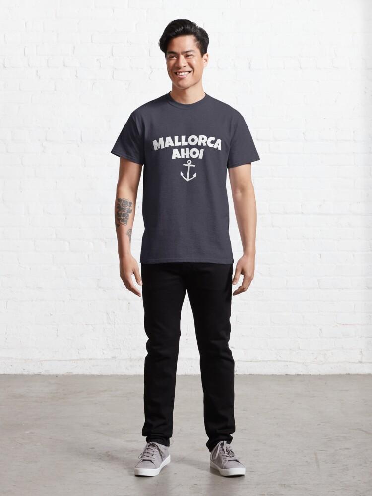 Alternative Ansicht von Mallorca Ahoi Anker Segel Design (Weiß) Classic T-Shirt