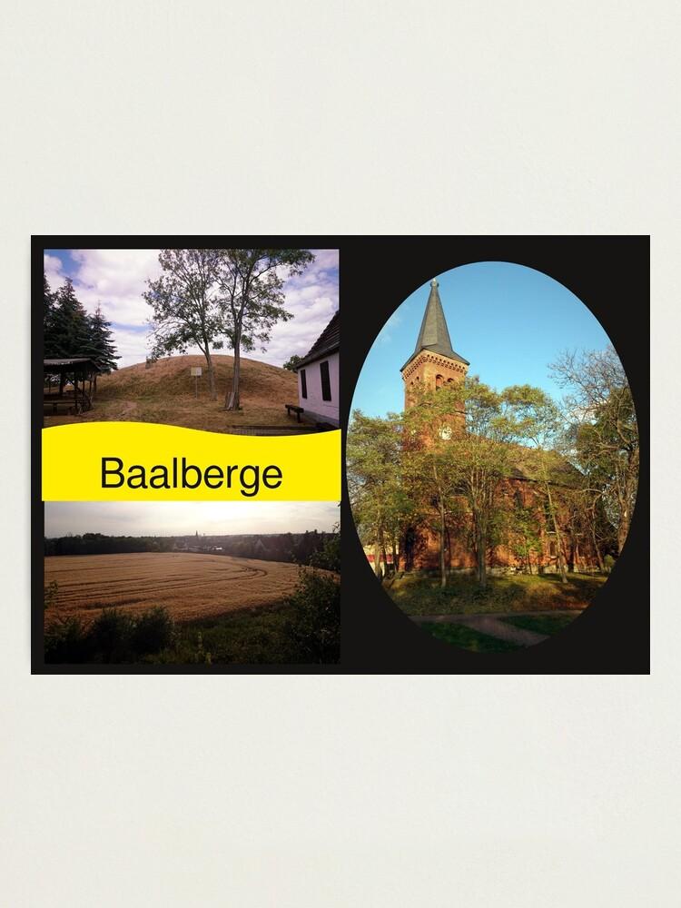Alternative Ansicht von Postkarte Baalberge Fotodruck
