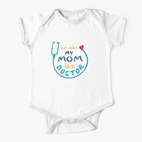 My Mom is a Doctor Short Sleeve Baby One-Piece