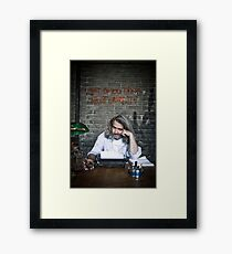 Self Portrait or What do you Think about Graffiti Framed Print