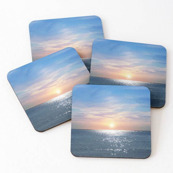 Sunny Morning At The Red Sea Coasters (Set of 4)