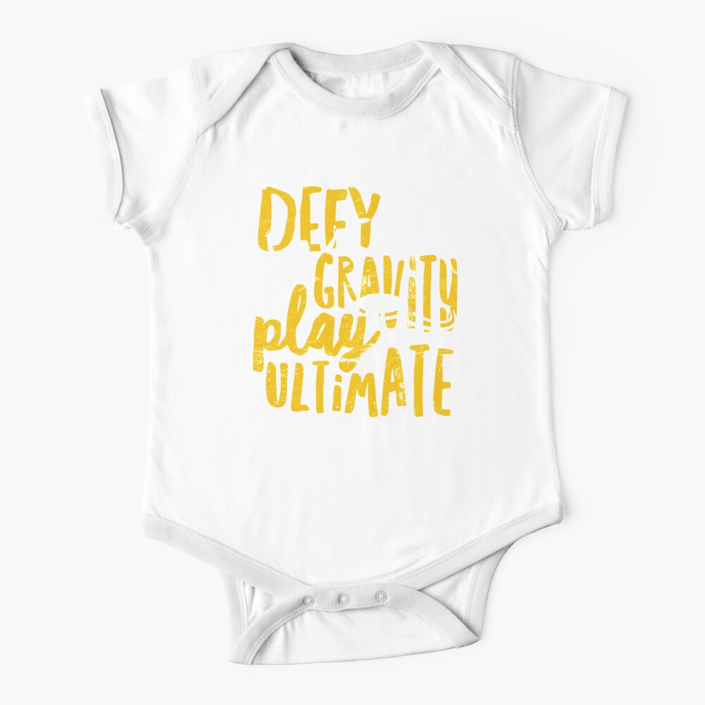 Defy Gravity - Play Ultimate Frisbee Disc Golf Baby One-Piece