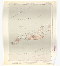Massachusetts  USGS Historical Topo Map MA Cuttyhunk 351604 1944 31680 Poster