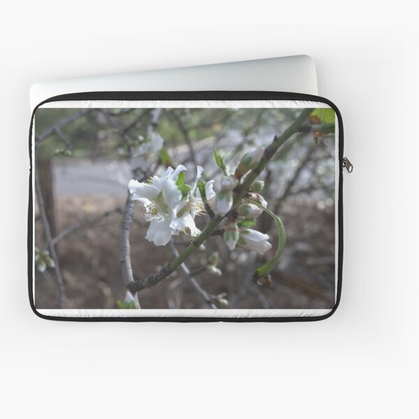 White Blossoming Flowers Laptop Sleeve