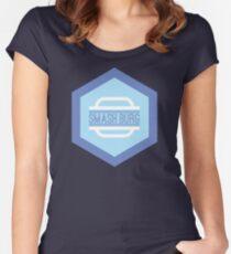 'Smash Burg' Logo Women's Fitted Scoop T-Shirt