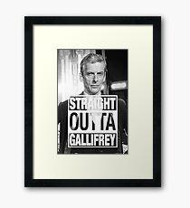 Straight Outta Gallifrey- CAPALDI Framed Print