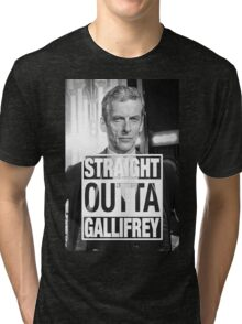 Straight Outta Gallifrey- CAPALDI Tri-blend T-Shirt